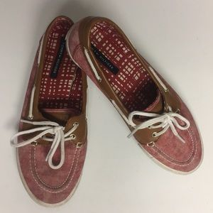 Tommy Hilfiger Fabric Slip On Top Suede Shoe